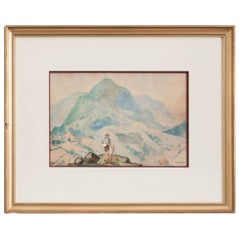 French Watercolor of Traveler