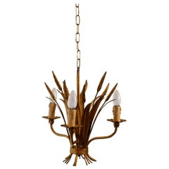 French Wheat Sheaf Pendant Lamp, 1970s