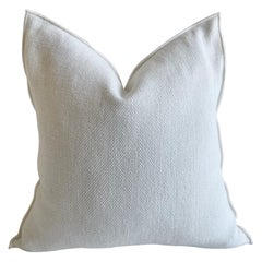 French White Linen Accent Pillow