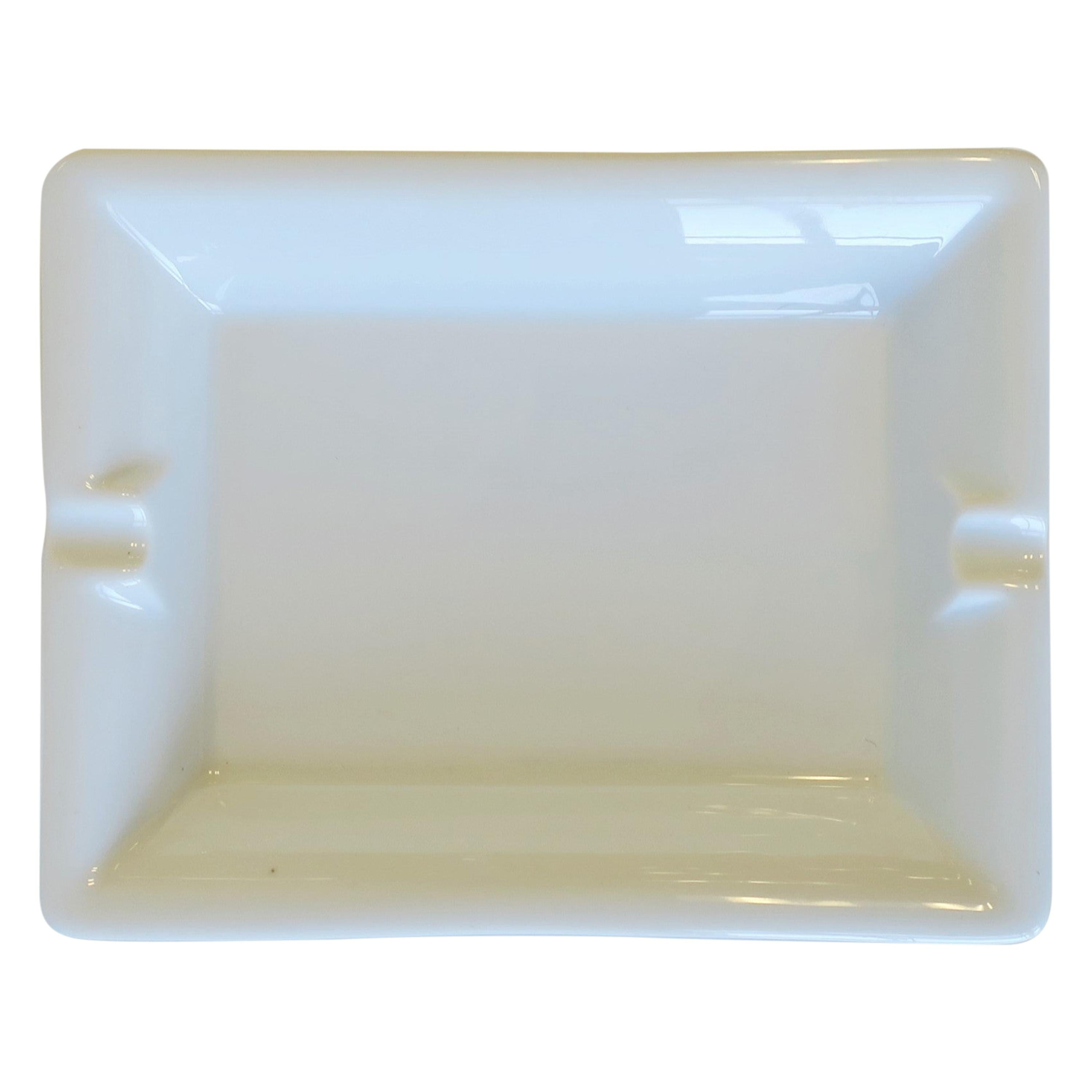 French White Porcelain Tray Vide-Poche Catchall or Ashtray