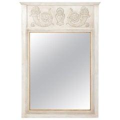 French White Trumeau Mirror