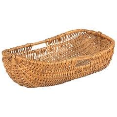 French Wicker Basket from Auvergne Region, 20th Century