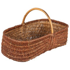 French Wicker Basket from Provence, 20th Century