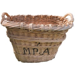 """French Wicker Champagne Basket Marked """"MPA"""""""