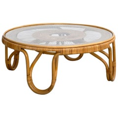 French Wicker Coffee Table