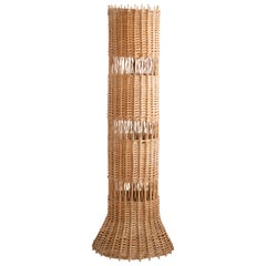 French Wicker Floor Lamp