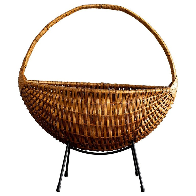 French Wicker Fruit Bowl For Sale