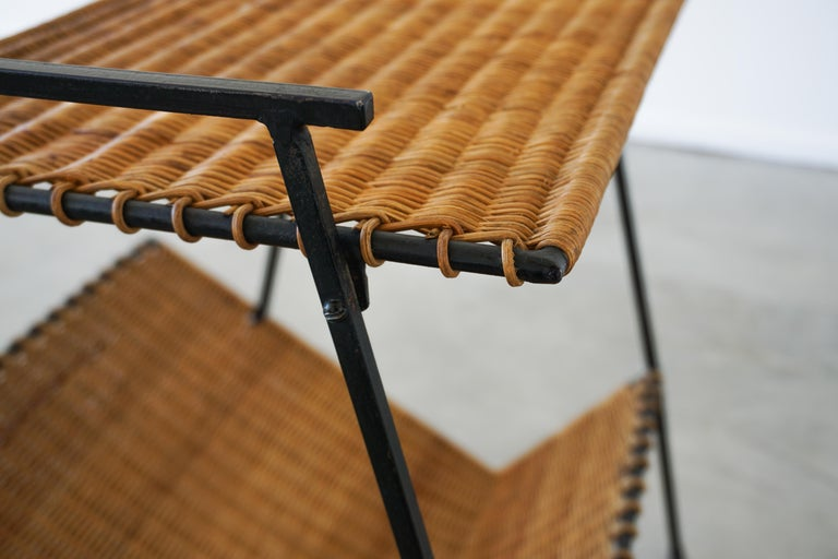 French Wicker Magazine Table 6