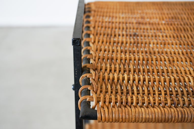 French Wicker Magazine Table 7