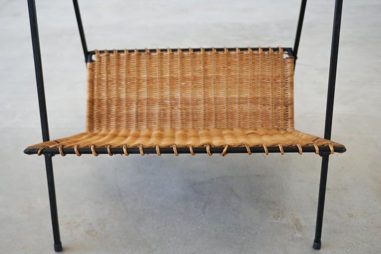 French Wicker Magazine Table 4