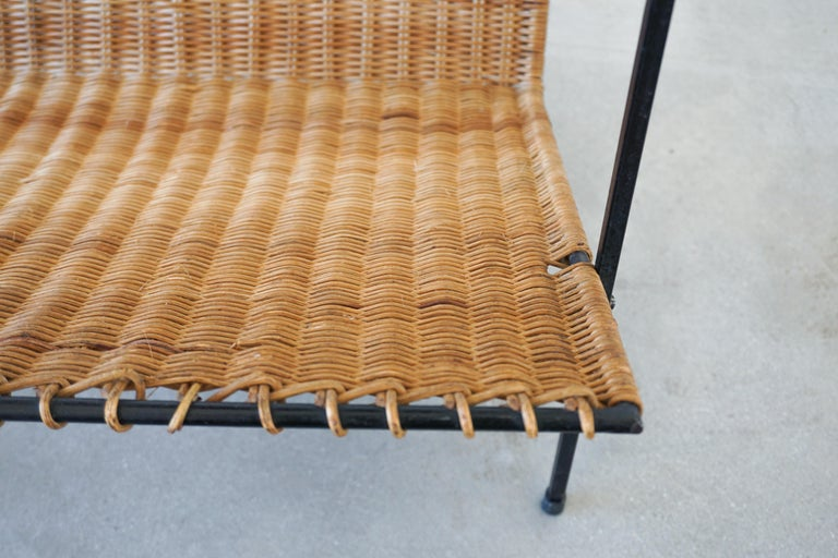 French Wicker Magazine Table 5