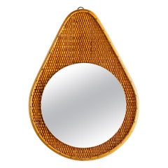 French Wicker Mirror