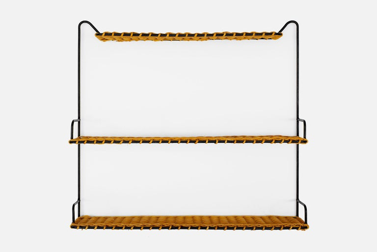 French Wicker Shelf In Good Condition For Sale In Los Angeles, CA