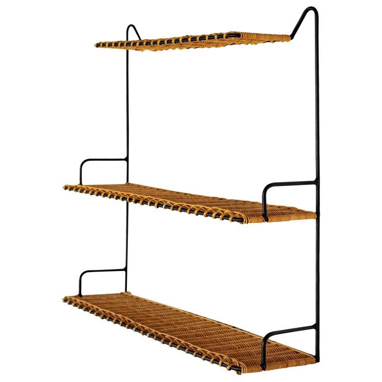 French Wicker Shelf For Sale