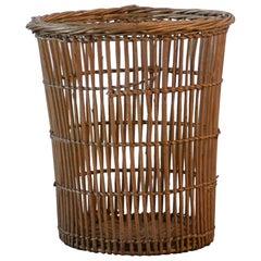 French Wicker Waste Basket