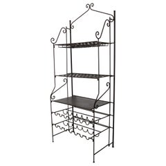 French Wine Iron Baker Rack