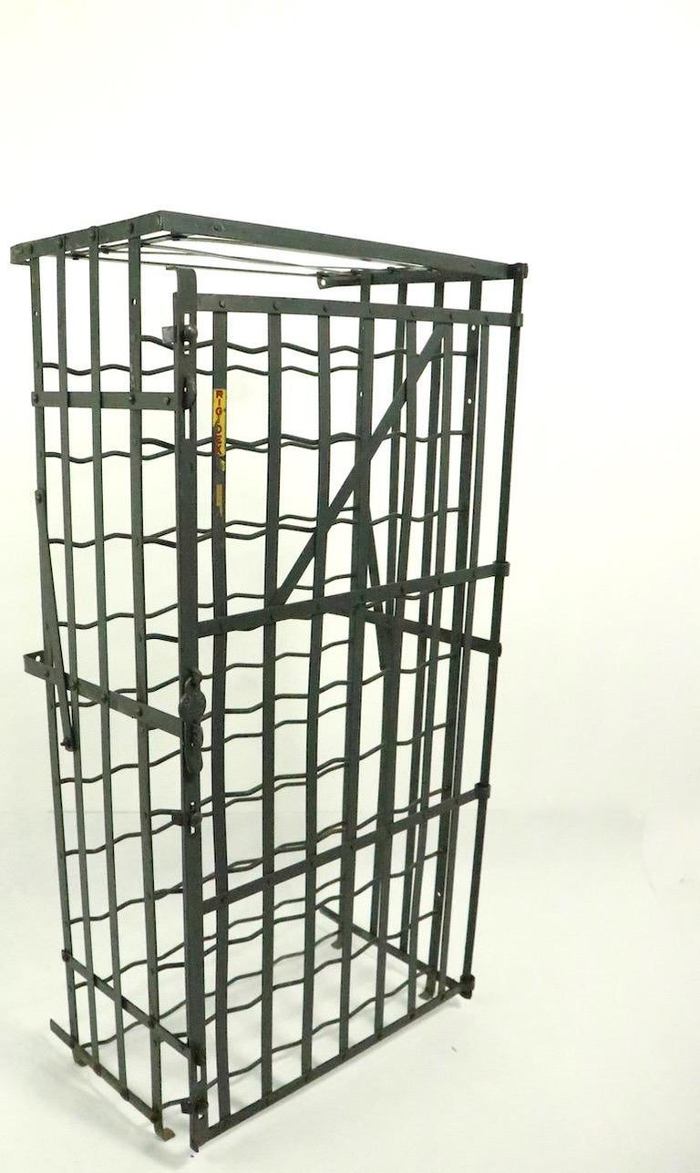 20th Century French Wine Rack Storage Locker by Rigidex For Sale