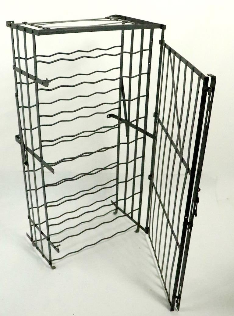 Wrought Iron French Wine Rack Storage Locker by Rigidex For Sale