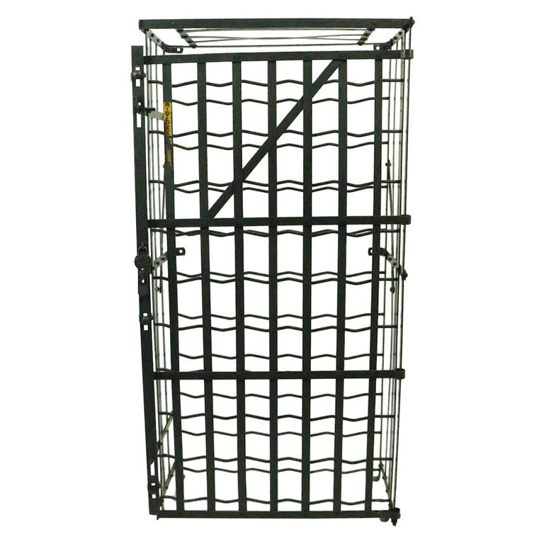 French Wine Rack Storage Locker by Rigidex For Sale