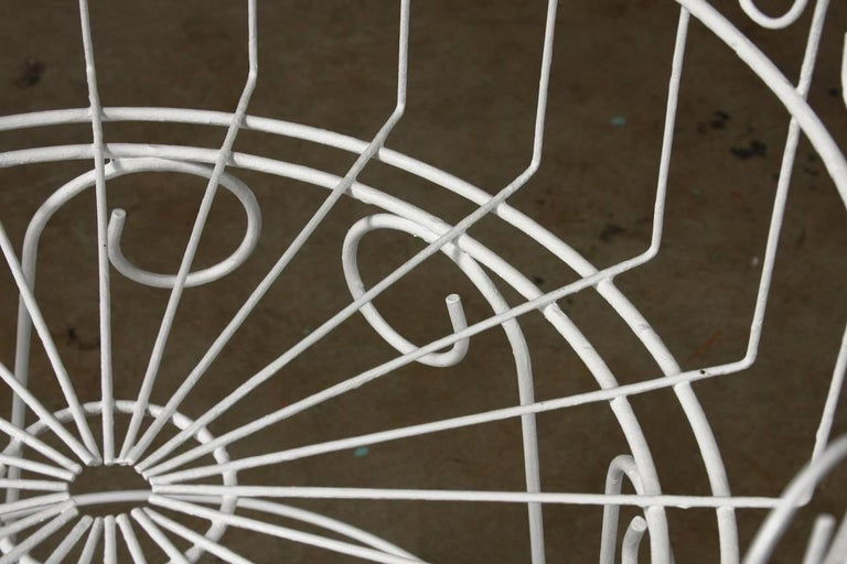 French Wire Basket Jardinière with Hairpin Legs For Sale 4