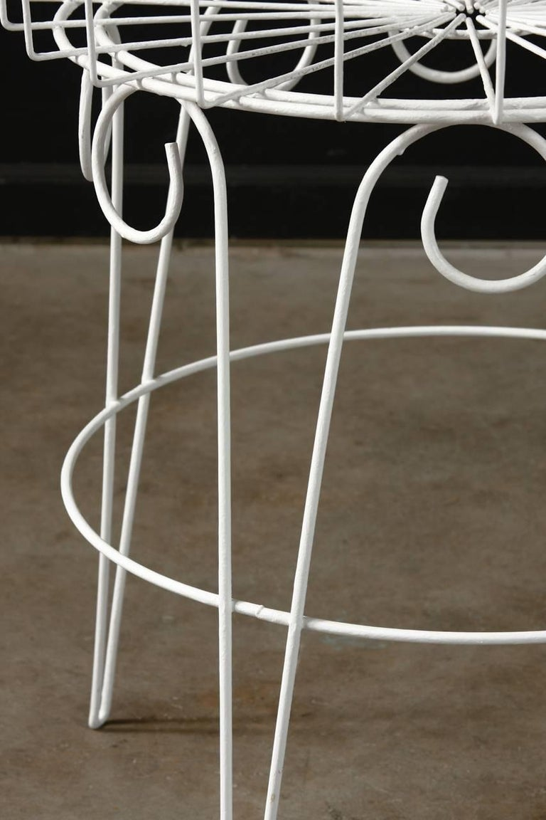 French Wire Basket Jardinière with Hairpin Legs For Sale 5