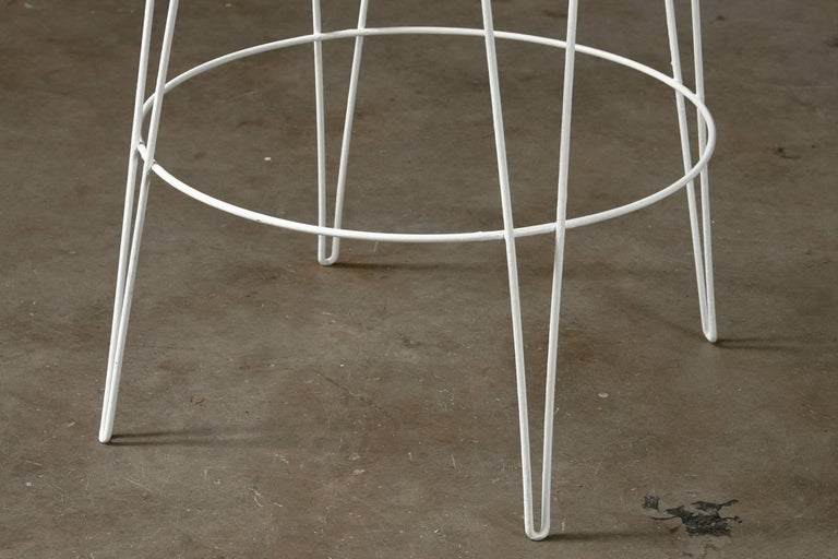 Metal French Wire Basket Jardinière with Hairpin Legs For Sale