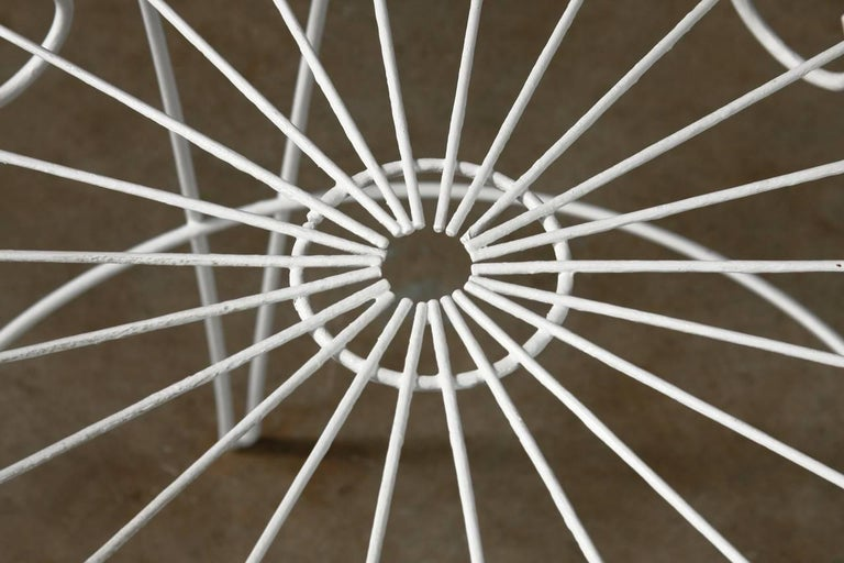 French Wire Basket Jardinière with Hairpin Legs For Sale 1