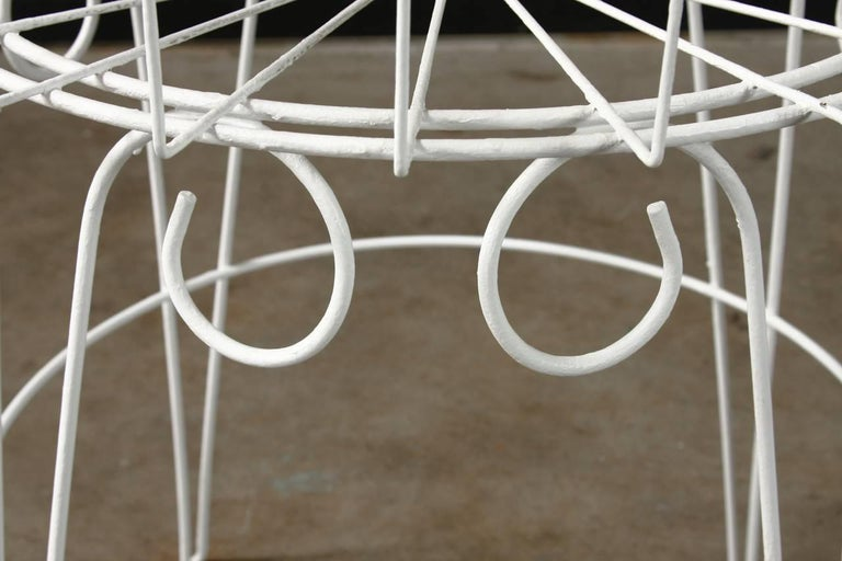 French Wire Basket Jardinière with Hairpin Legs For Sale 2