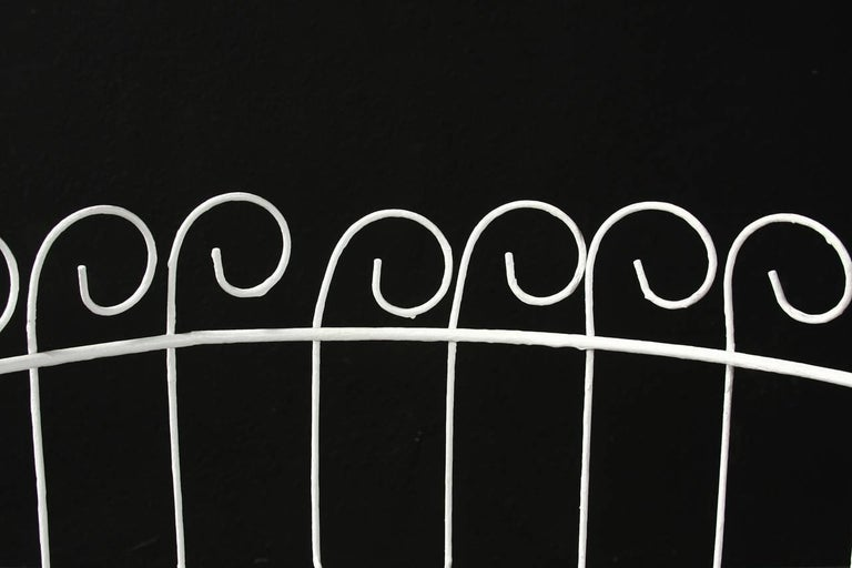 French Wire Basket Jardinière with Hairpin Legs For Sale 3