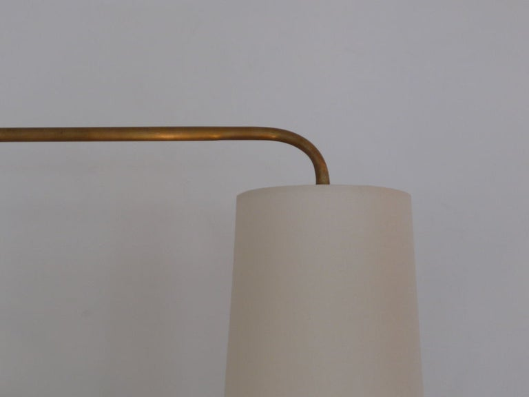 American French Wired Pole Sconce with Table by Orange Los Angeles For Sale