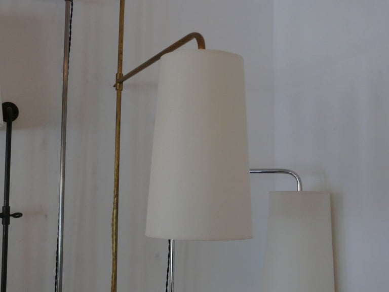 French Wired Pole Sconce with Table by Orange Los Angeles In Excellent Condition For Sale In Los Angeles, CA