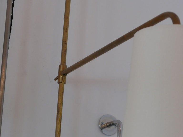 French Wired Pole Sconce with Table by Orange Los Angeles For Sale 1