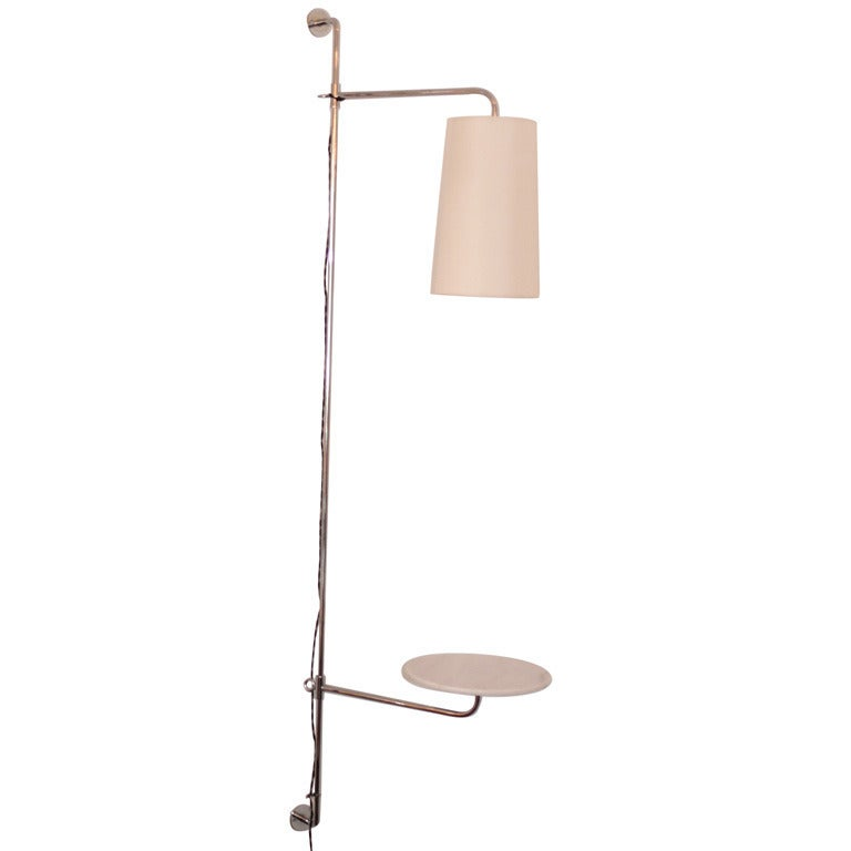 French Wired Pole Sconce with Table by Orange Los Angeles For Sale 2