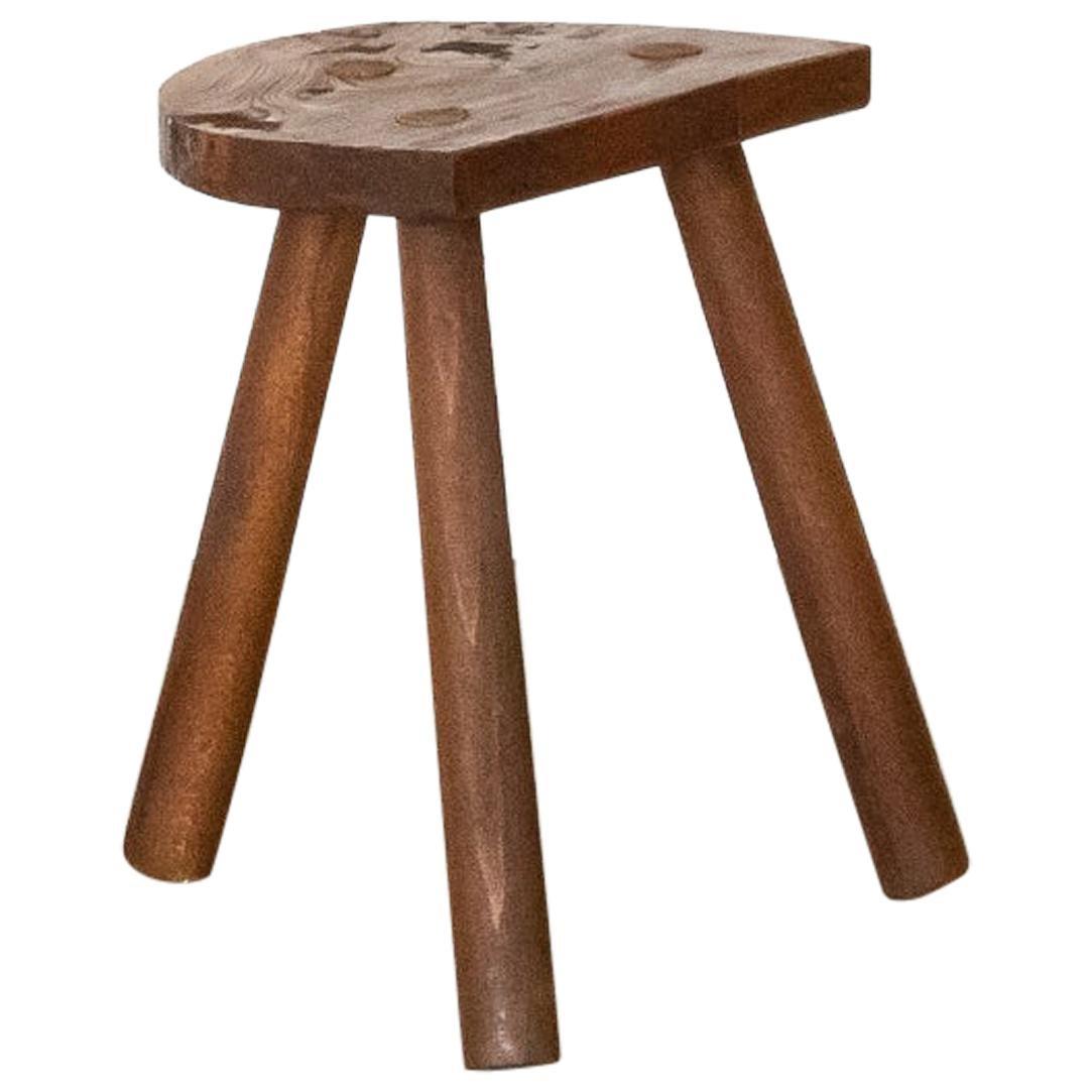 French Wood Stool Tripod Stool