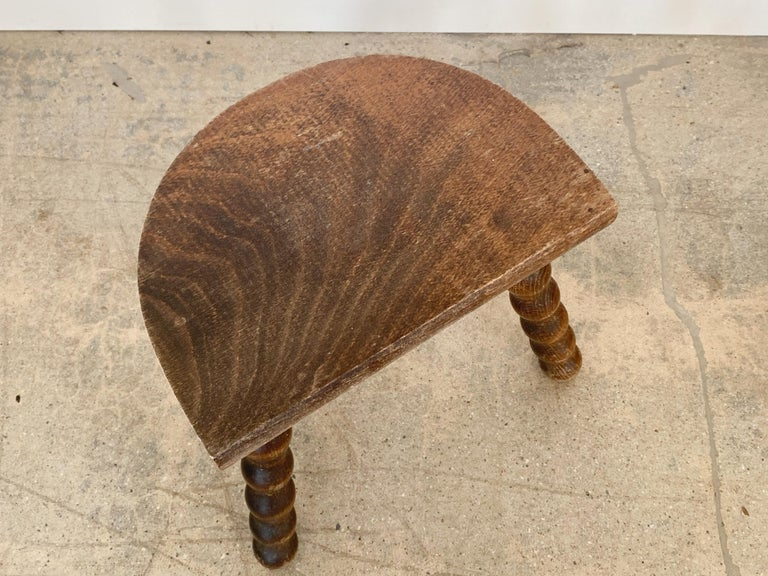 French Wood Tripod Stool For Sale 6