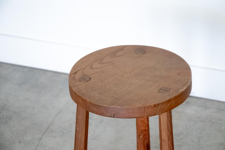 French Wood Tripod Stool In Good Condition In Los Angeles, CA
