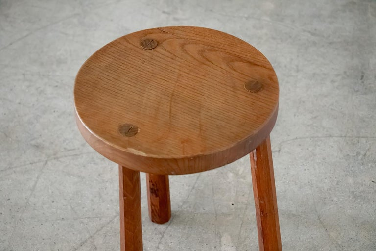 French Wood Tripod Stool 2