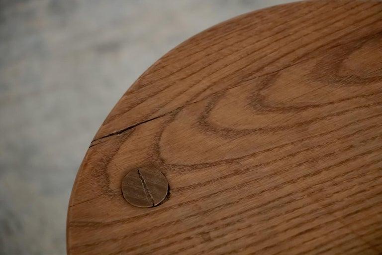 French Wood Tripod Stool 4