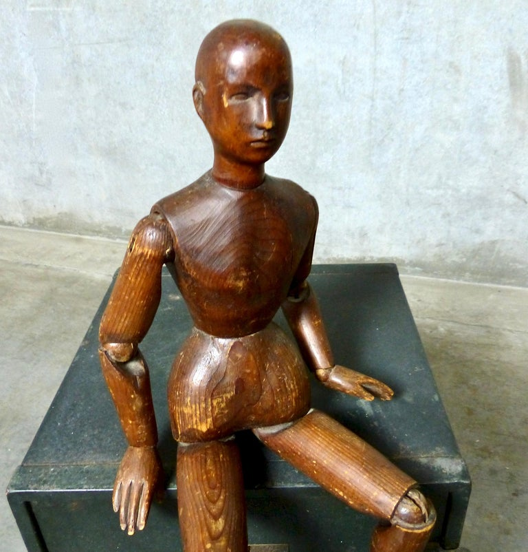 French Wooden Articulating Artist's Model, circa 1900 In Good Condition For Sale In Surrey, BC