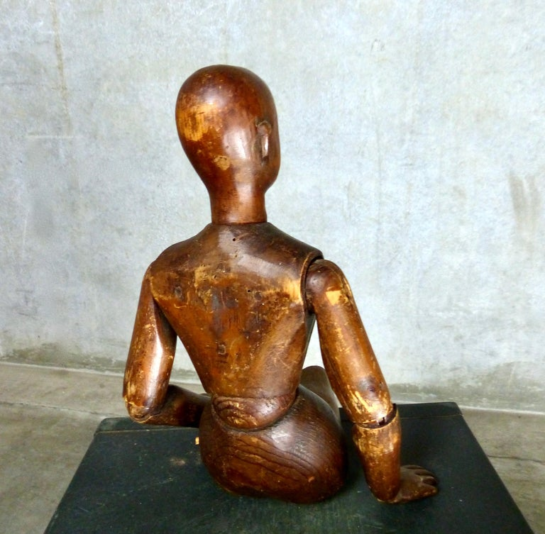 French Wooden Articulating Artist's Model, circa 1900 For Sale 1