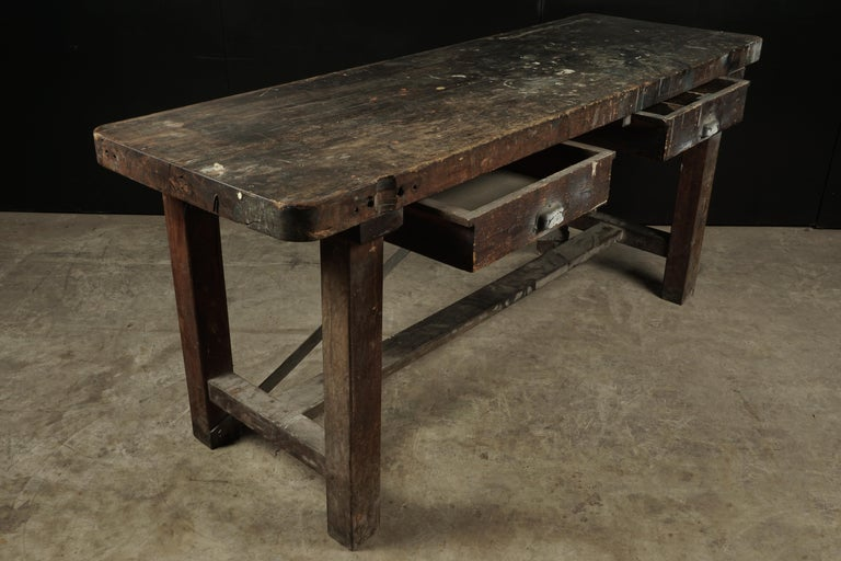 European French Work Console, circa 1940 For Sale