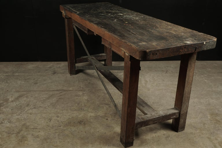 French Work Console, circa 1940 For Sale 1