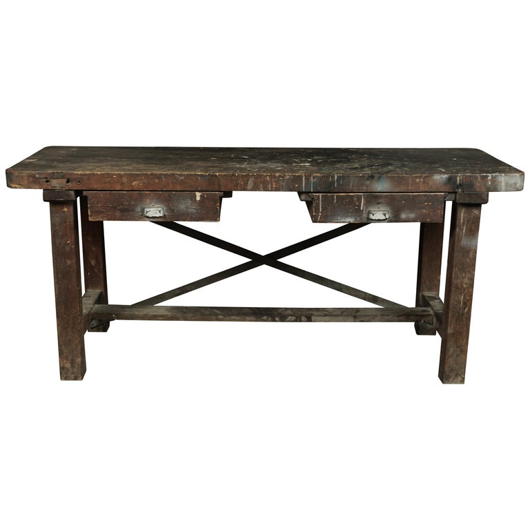 French Work Console, circa 1940 For Sale