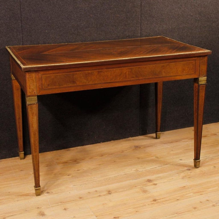 French Writing Desk in Inlaid Wood in Louis XVI Style from 20th Century 5
