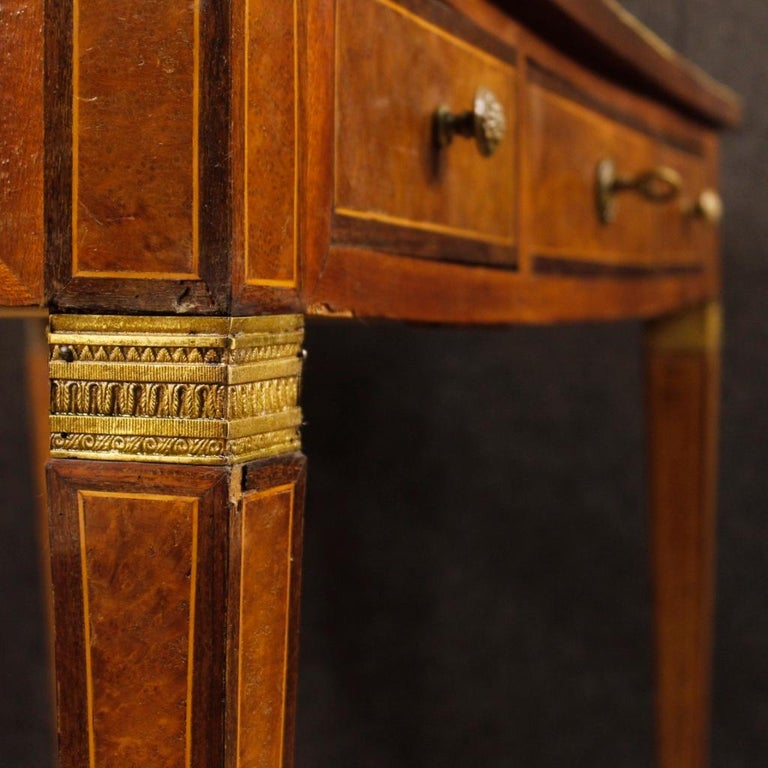French Writing Desk in Inlaid Wood in Louis XVI Style from 20th Century 1