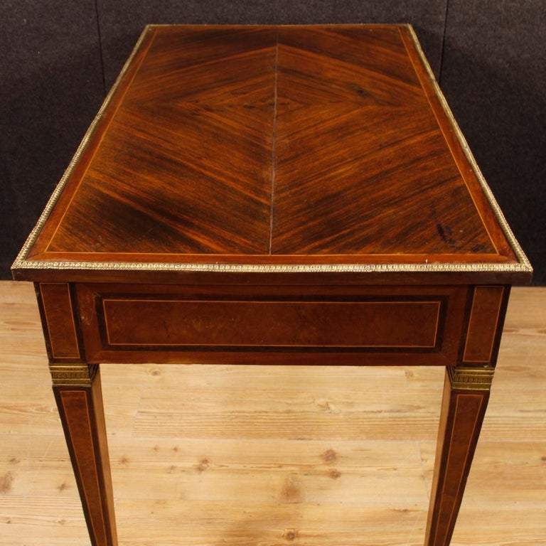French Writing Desk in Inlaid Wood in Louis XVI Style from 20th Century 2