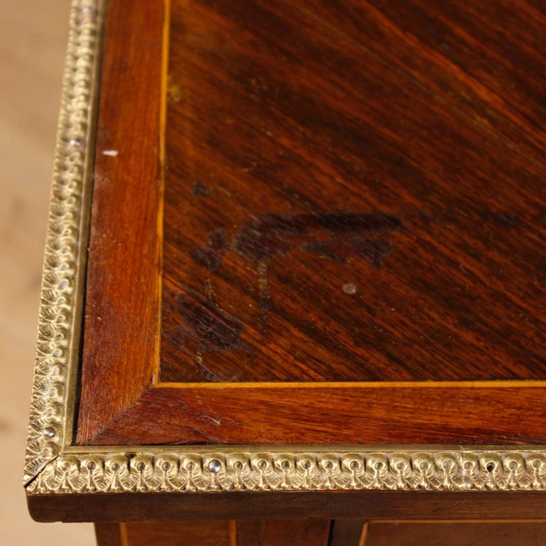 French Writing Desk in Inlaid Wood in Louis XVI Style from 20th Century 4