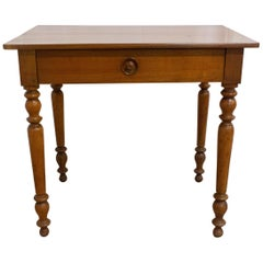 French Writing Table Louis Philippe Desk or Side Table, 19th Century