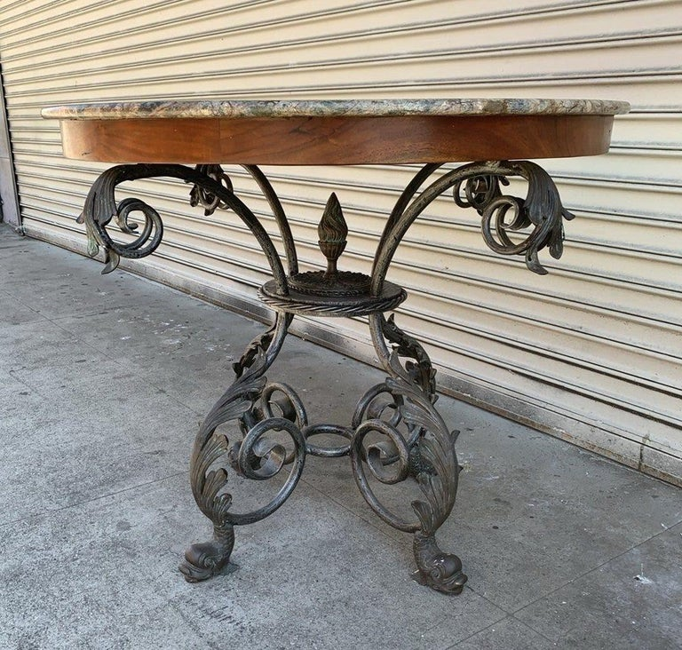 This French dining table features a 48