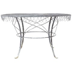 French Wrought Iron and Wire Garden Dining Table